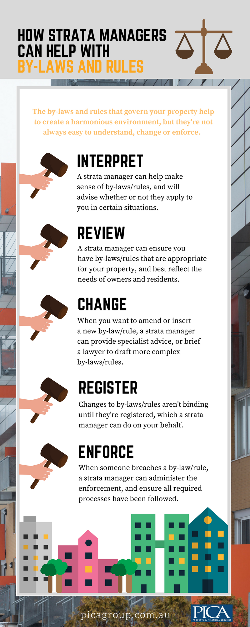 How strata managers can help with by-laws and rules