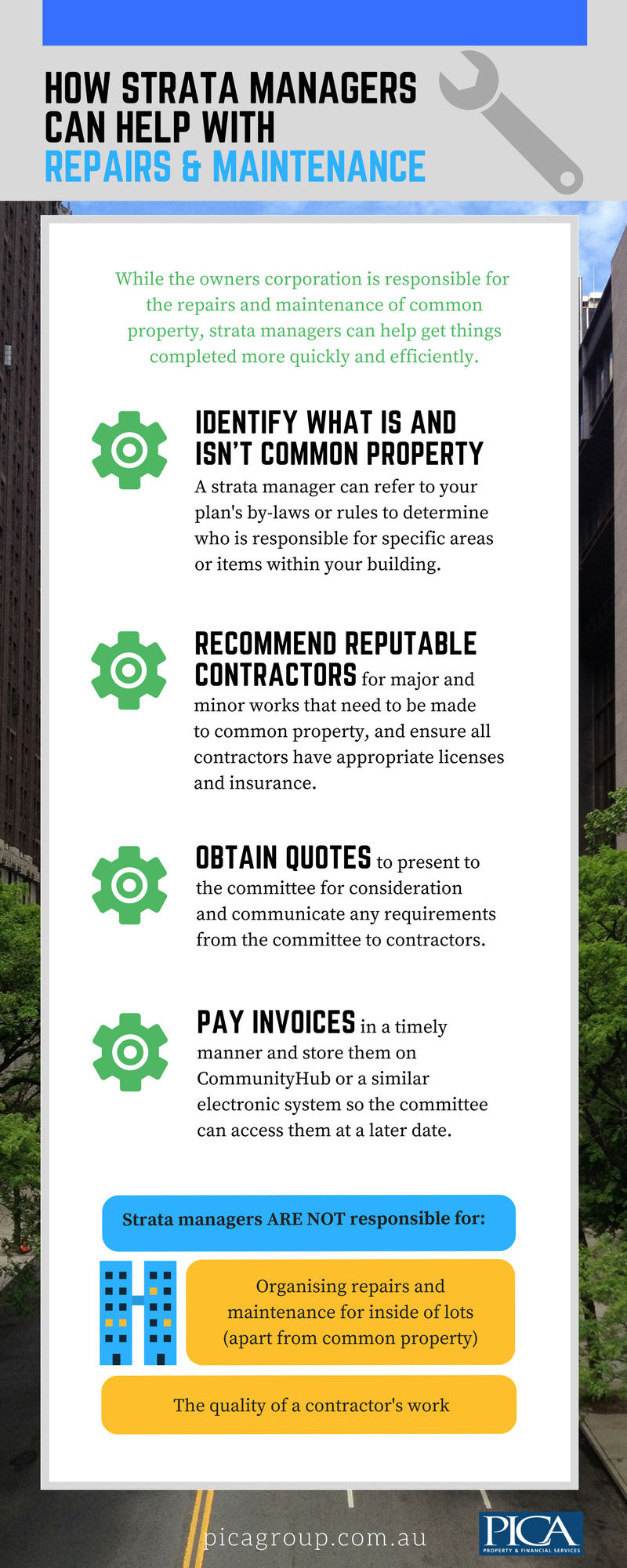 How a strata manager can help with repairs and maintenance