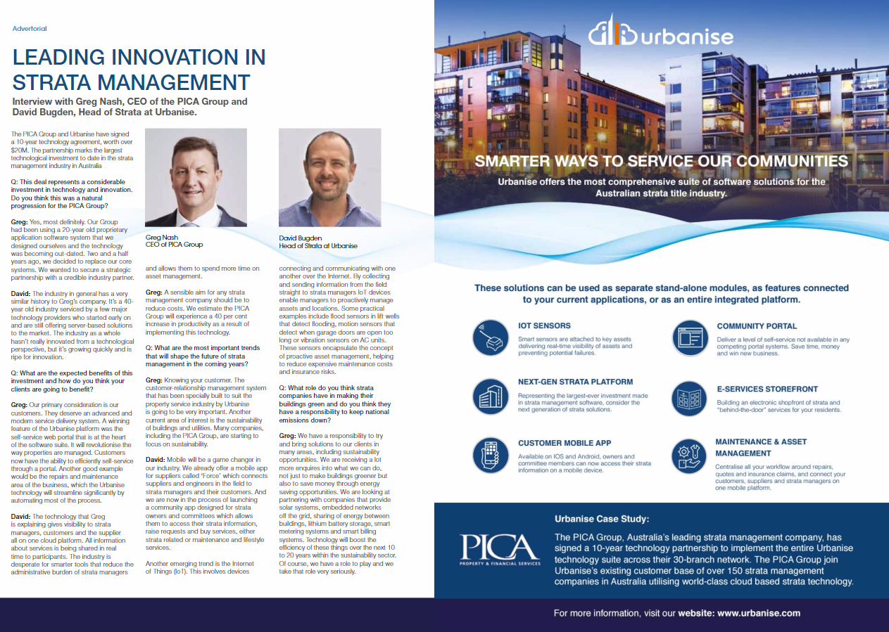 Leading innovation in strata management