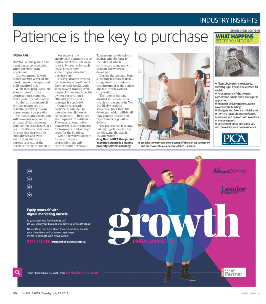 Industry insights: Patience is the key to purchase – PICA Group