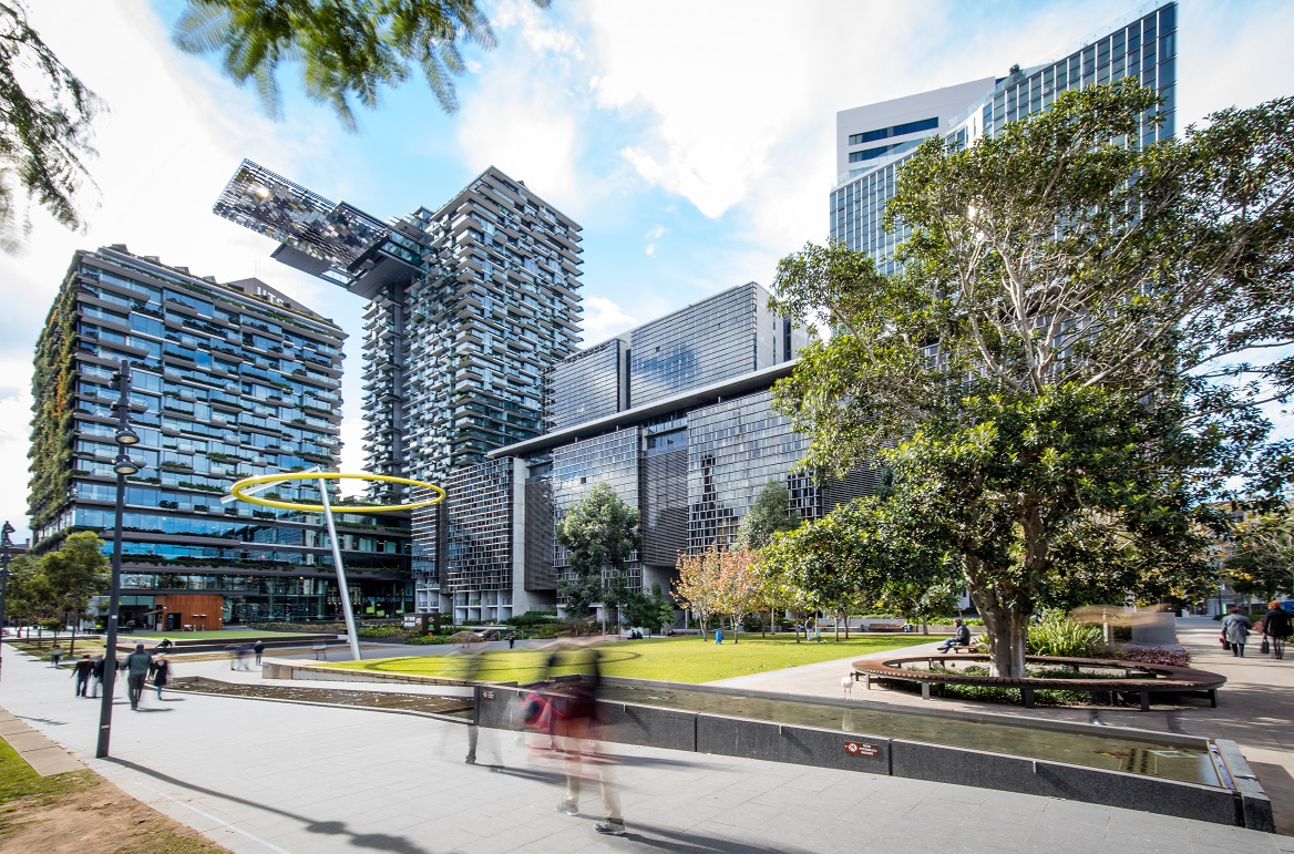 prestigious buildings at Sydney Central Park