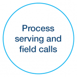 Process serving and field calls icon