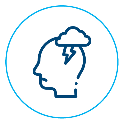 Psychological injury icon