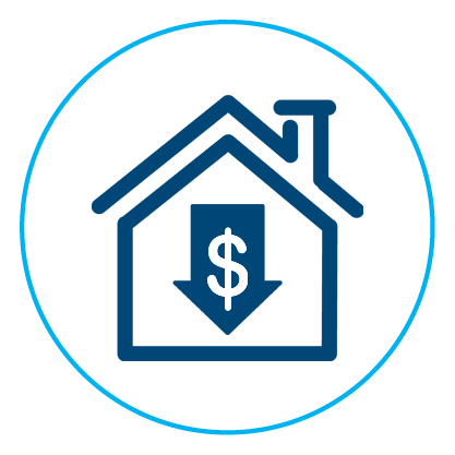 Decrease in property value icon