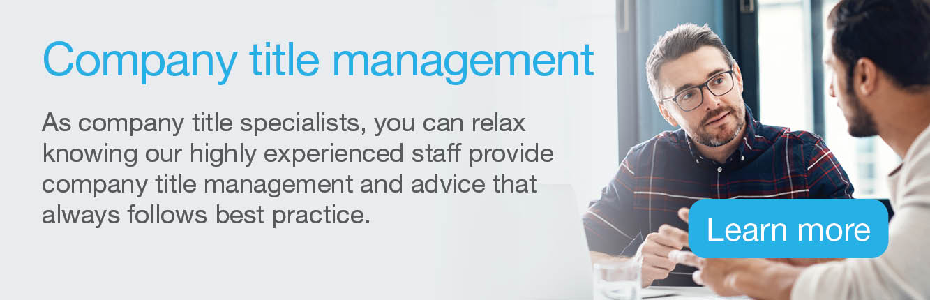 Sydney Company Title Management quote banner