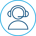 Enhanced Community Living campaign Customer care icon